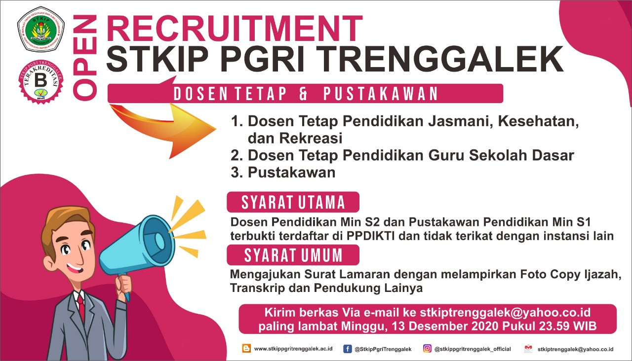 Open Recruitmen Dosen dan Pustakawan STKIP PGRI Trenggalek