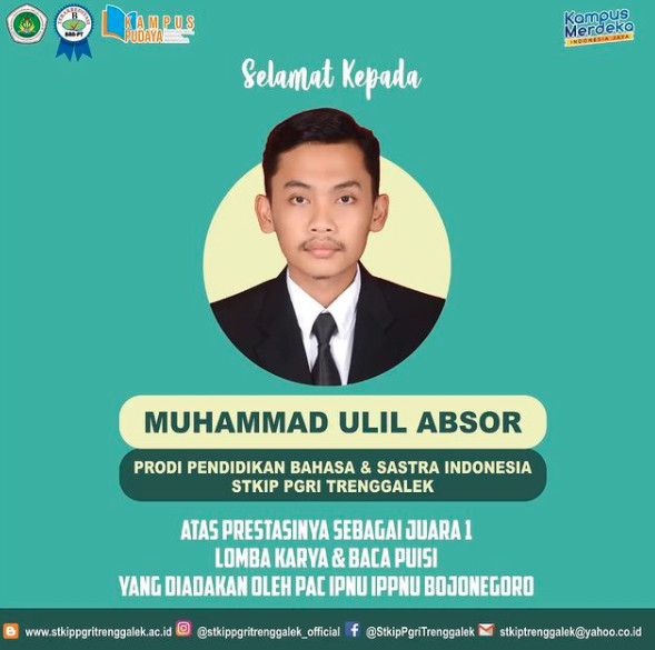 Selamat Kepada Muhammad Ulil Absor Prodi Pendidikan Bahasa dan Sastra Indonesia